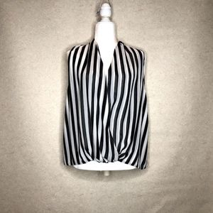 Red by Saks Sleeveless Striped Blouse